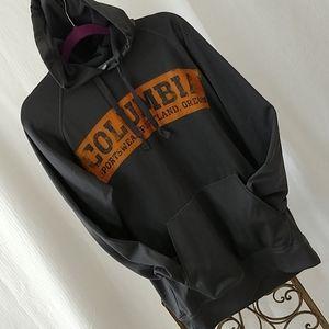 Grey nylon Columbia hoodie